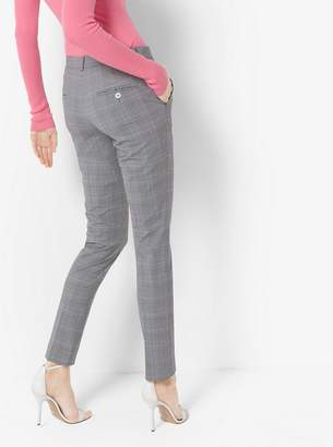 Michael Kors Samantha Glen Plaid Stretch-Wool Pants