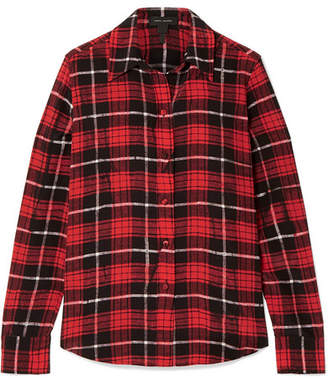 Marc Jacobs Plaid Silk Crepe De Chine Shirt - Red
