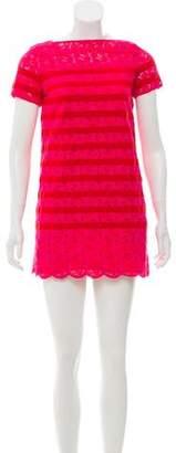 Sacai Luck Striped Lace Dress