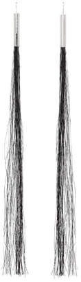 Helmut Lang Silver Re-Edition Horse Hair Earrings