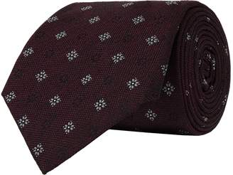 Brunello Cucinelli Flower Silk Tie