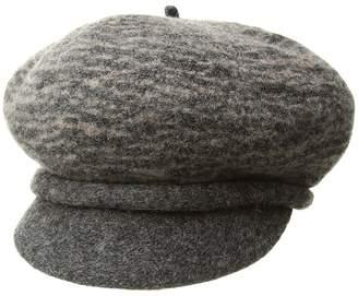 Scala Boiled Wool Two-Tone Newsboy Caps