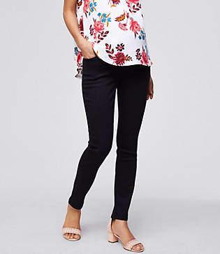 LOFT Petite Maternity Skinny Jeans in Black