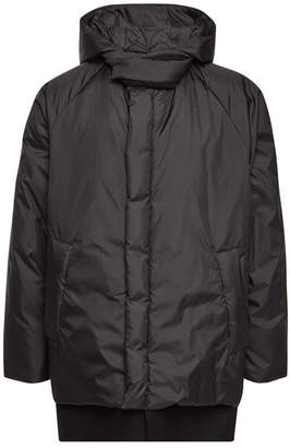Oamc Frontline Down Jacket with Fleece Wool and Shearling