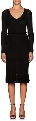 Altuzarra Women's Magus Metallic Rib-Knit Dress - Black