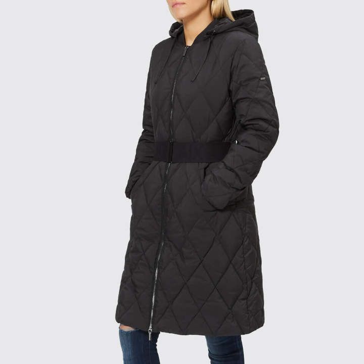 Women's Long Quilted Down Coat