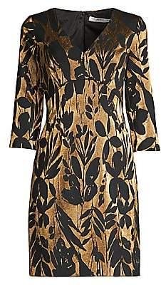 Trina Turk Women's Eastern Luxe Muni Jacquard Metallic Sheath Dress - Size 0