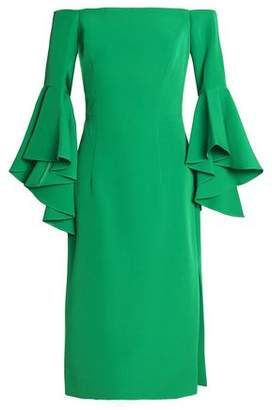 Milly Off-The-Shoudler Ruffled Cady Dress