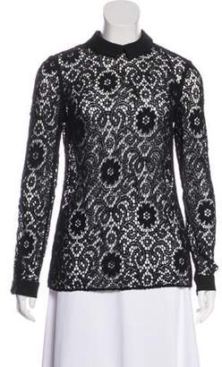 Burberry Collared Lace Top Black Collared Lace Top