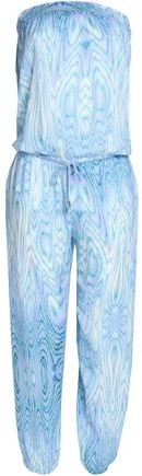 Printed Layered Voile Wide-Leg Pants