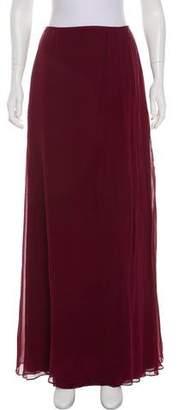 Carmen Marc Valvo Silk Maxi Skirt