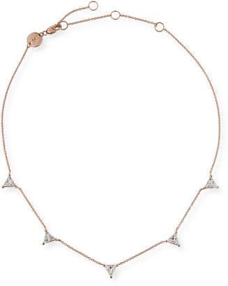 Jennifer Zeuner Jewelry Luz Trillion-Cut White Sapphire Necklace