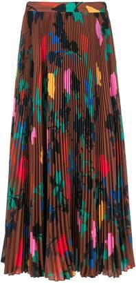 MSGM pleated print skirt