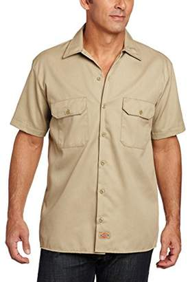 Dickies Men's Short Sleeve Twill Work Shirt Big And Tall-Folded - 1574Wh X