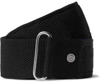 Dries Van Noten 4cm Black Suede-Trimmed Webbing Belt