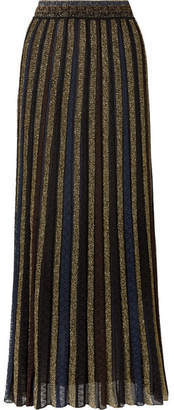 Missoni Striped Metallic Crochet-knit Maxi Skirt - Black