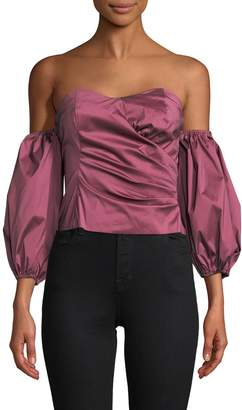 Tracy Reese Women's Solid Sweetheart Top