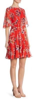 Jason Wu Floral Silk Chiffon Dress $1,695 thestylecure.com