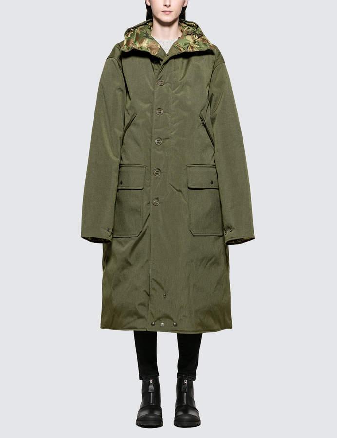 Long Anorak Reversible Puffer Jacket