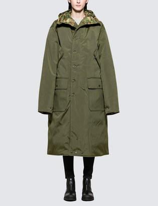 R 13 Long Anorak Reversible Puffer Jacket