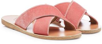 Ancient Greek Sandals Thais Velvet Sandals