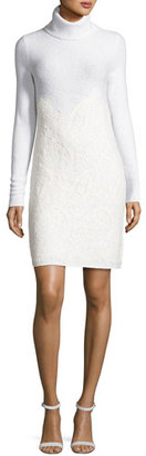 MICHAEL Michael Kors Needle-Punched Lace Sweater Dress, Derby $275 thestylecure.com
