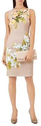 Hobbs London Francine Floral Print Sheath Dress