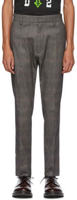 DSQUARED2 Grey Check Cigarette Trousers
