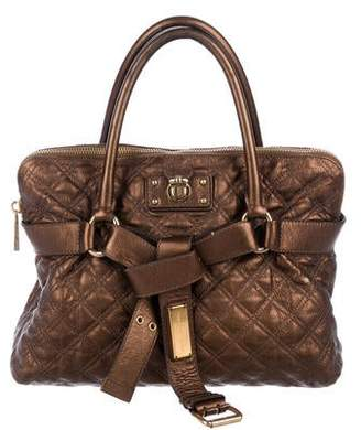Marc Jacobs Quilted Metallic Leather Bruna Bag