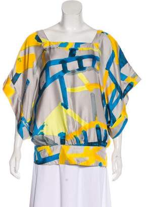 See by Chloe Silk Brush Stroke Blouse