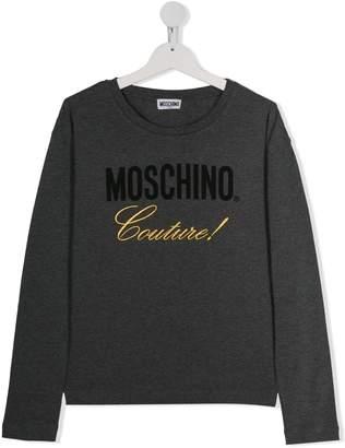 Moschino Kids contrast logo T-shirt