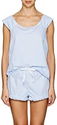The Sleep Shirt Women's Striped Cotton Pajama Set