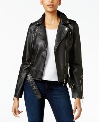 Jou Jou Juniors' Faux-Leather Moto Jacket $69.50 thestylecure.com