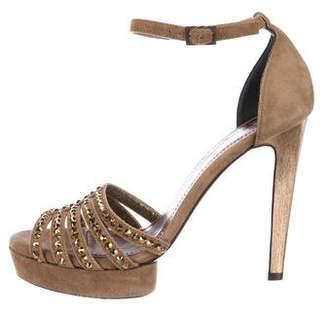 Lanvin Suede Ankle Strap Sandals