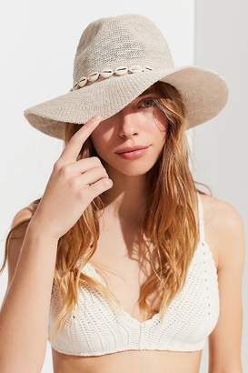 Urban Outfitters Pucca Shell Nubby Woven Panama Hat