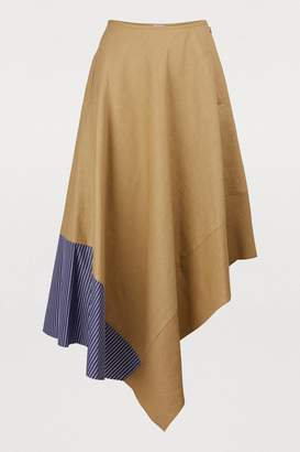 Loewe Asymmetric skirt with striped panel