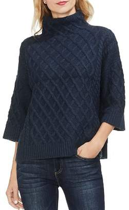 Vince Camuto Cable Stitch Funnel Neck Sweater