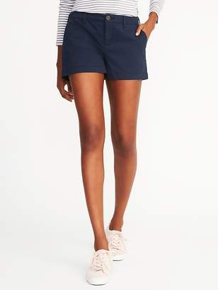 Old Navy Relaxed Mid-Rise Everyday Khaki Shorts For Women - 3.5 inch inseam