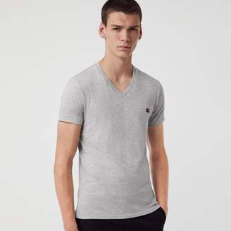 Burberry Cotton Jersey V-neck T-shirt