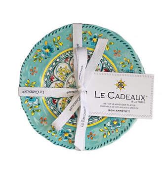Le Cadeaux Melamine Appetizer Plates, Set of Four