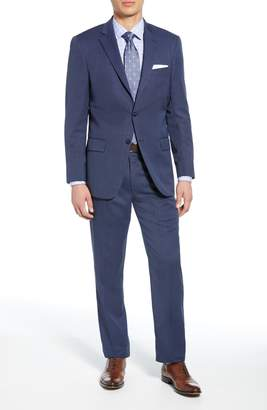 Hart Schaffner Marx New York Classic Fit Bird's Eye Wool Suit