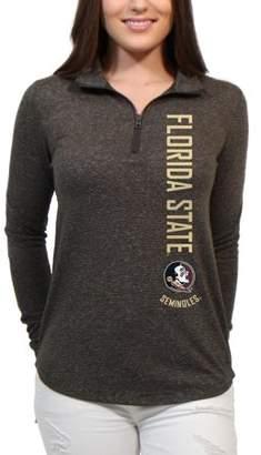 NCAA Florida State Seminoles Cascade Text Women's/Juniors Team Long Sleeve Half Zip Shirt