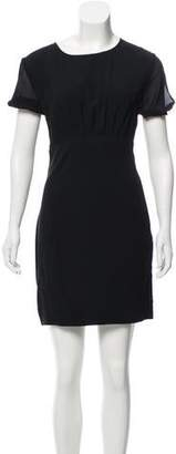 Saint Laurent Short Sleeve Mini Dress