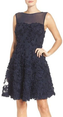Women's Eci Soutache Overlay Fit & Flare Dress $144 thestylecure.com