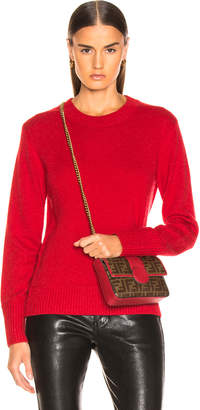 Burberry Bradgate Sweater in Coral Red | FWRD