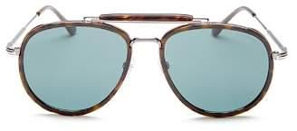Tom Ford Men's Tripp Brow Bar Aviator Sunglasses, 58mm