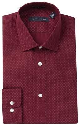 Tommy Hilfiger Dot Print Slim Fit Dress Shirt