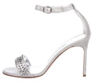 Manolo Blahnik Metallic Embellished Sandals