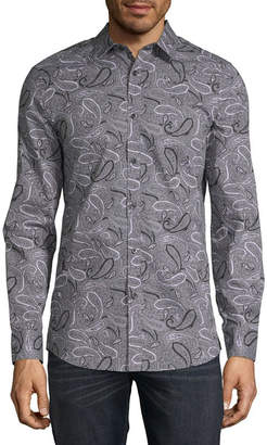 AXIST Axist Long Sleeve Paisley Button-Front Shirt