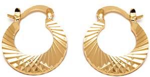Peermont Gold Hoop Earrings.
